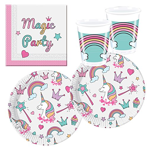 Procos- Set de fiesta unicornio Magic Party, Multicolor (10118521)