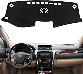 Autoxrun Dashboard Black Cover Dashboard Protector Sun Cover Pad Center Console Cover Fits 2012-2017 Toyota Camry