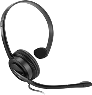 Cellet EP35OP Premium Mono 3.5mm Hands-Free Headset with Boom Microphone- 5ft long wire -Universal compatibility including Apple iPhone, Samsung, LG, Motorola.