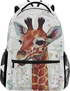 Cute Giraffe Backpack for Girls Boys Elementary School Bookbag 2020121