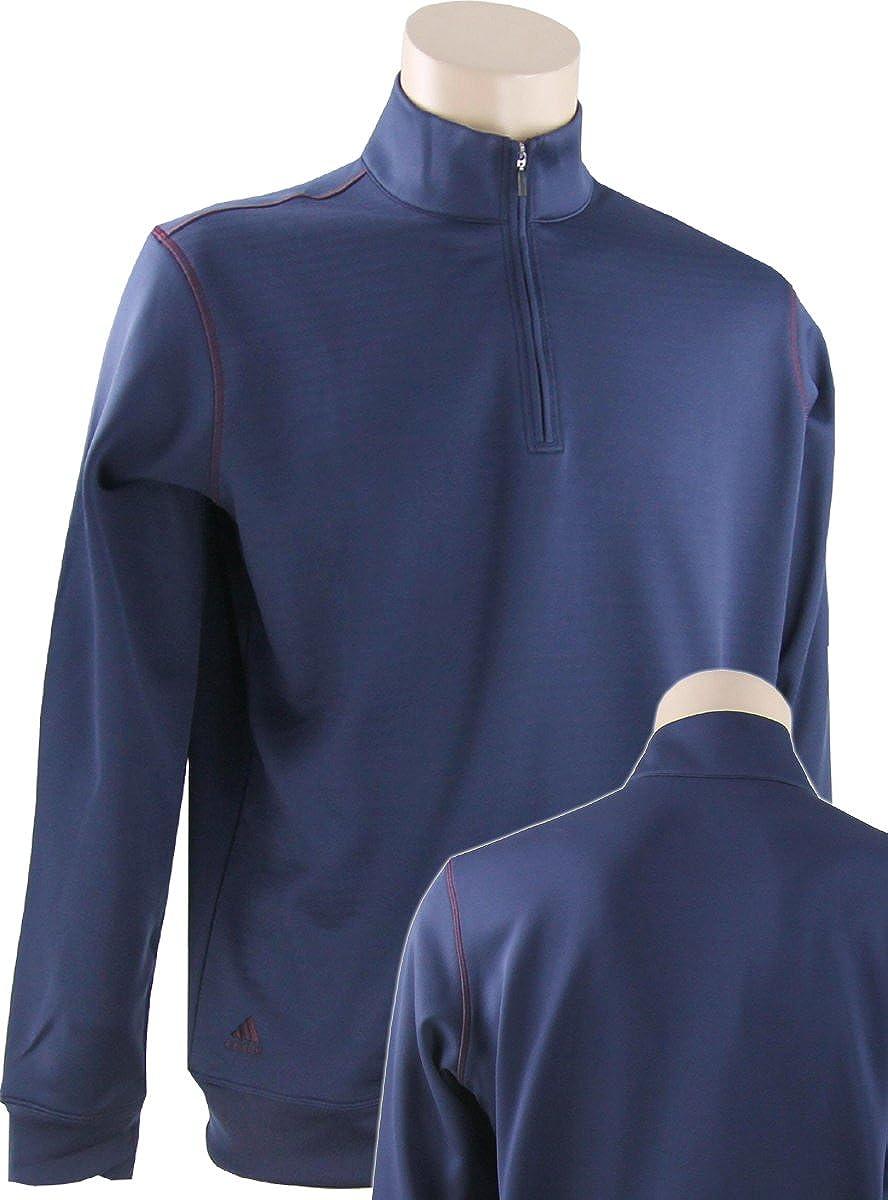 adidas Golf Men's Contrast Max 41% OFF Textured Pul Zip Same day shipping Half Sweatshirt