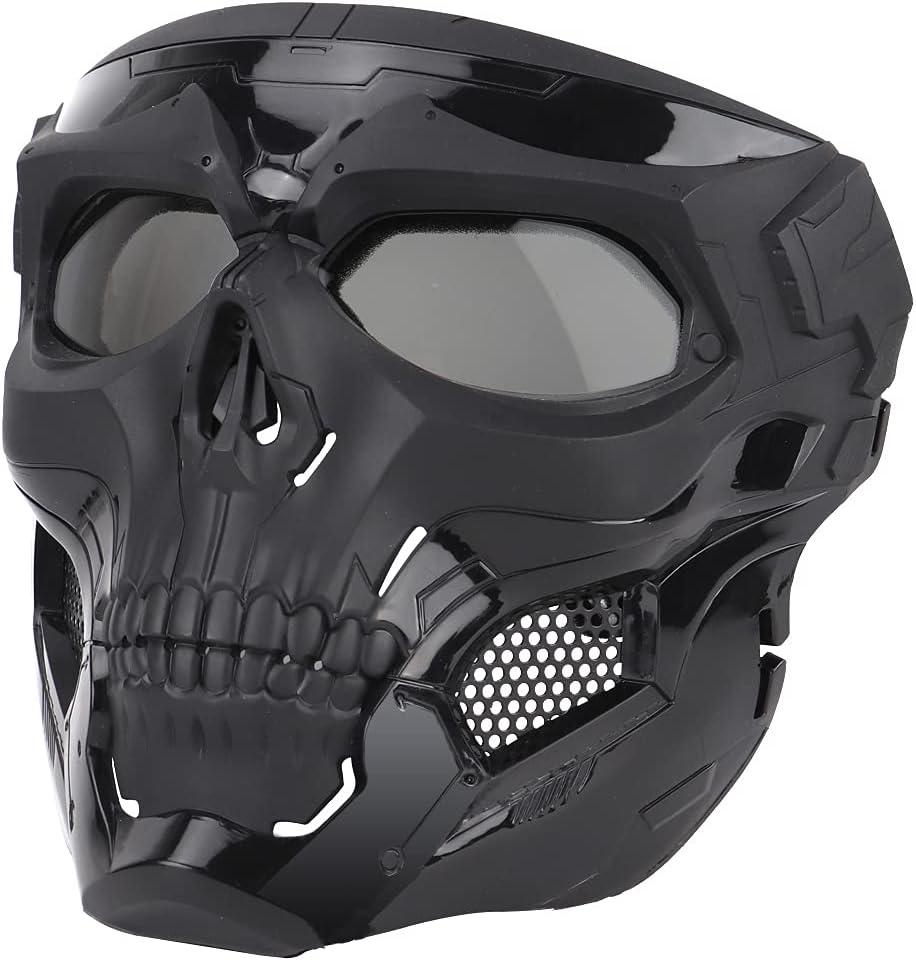 NINAT Airsoft Skull Mask Full Max 69% OFF Face PC Tactical with Masks 5 ☆ popular Lens E