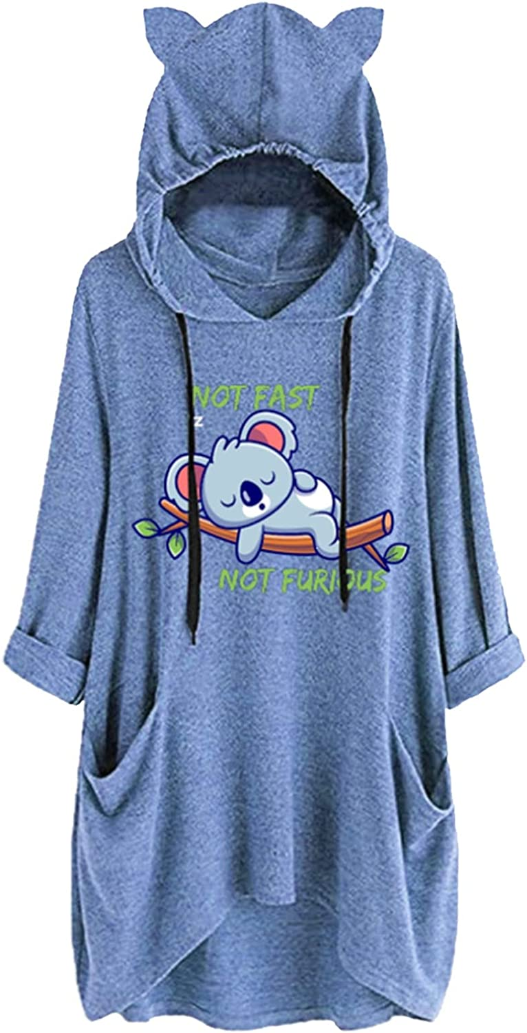 Cute Hoodies Max 62% OFF for Women with Pockets Letter Prin Mouse and Lovely Las Vegas Mall