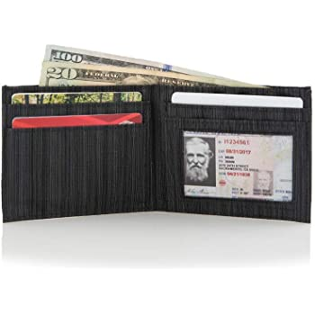 Allett Slim Front Pocket Nylon ID Wallet - Black