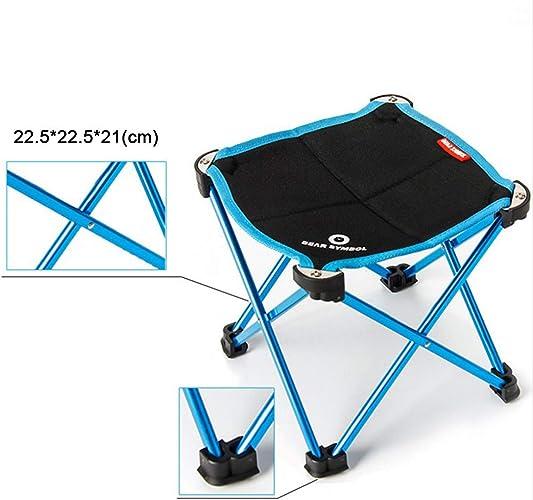 FUBULECY Chaise de pêche Pliante en Alliage d'aluminium aéronautique pour Camping en Plein air