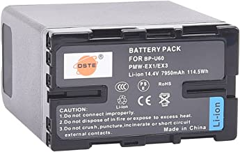 DSTE Replacement for BP-U60 Li-ion Battery Pack Compatible Sony PMW-100 150P 160 MW-200 EX1 EX3 EX260 EX280 EX160 F3 PXW-X180 Camcorder