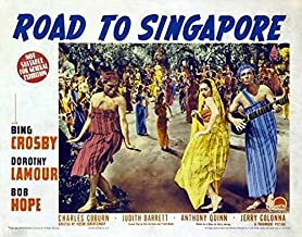 Bing Crosby Bob Hope Vintage-Style 12x18 Movie Poster 1940 Road to Singapore