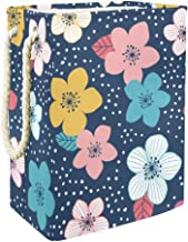 Laundry Basket Colorful Floral with DotsCollapsible Laundry Hamper for Bathroom Bedroom Home Toys and Clothing Organization