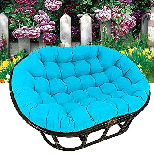 TDHLW Cojín impermeable doble para silla Papasan, cojín de silla Papasan, cojín para patio o jardín, funda de cojín de cojín para colgar en interiores y exteriores, azul cielo, 170 cm x 120 cm
