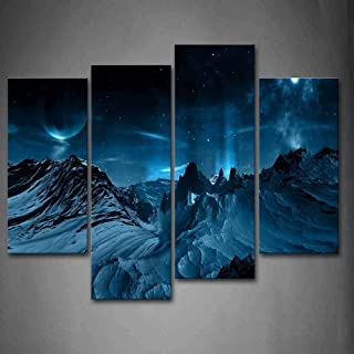 Many Stars and Gills Wall Art Painting Pictures Print On Canvas Space The Picture for Home Modern Decoration