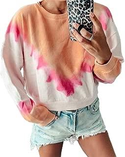 neveraway Women's Long Sleeve Gradients Pullover Sweatshirt Tunic Blouse Top