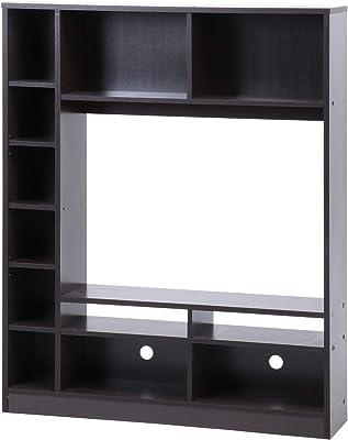 不二貿易 テレビ台 テレビボード 幅120cm ブラウン 壁面ユニット 32型対応 可動棚 98826