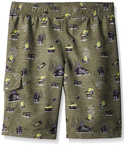 Columbia Jungen Boy's Solar Stream Ii Boardshort Shorts, Cypress Campin Druck, Groß