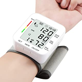 Blood Pressure Monitor Large LCD Display & Adjustable Wrist Cuff..