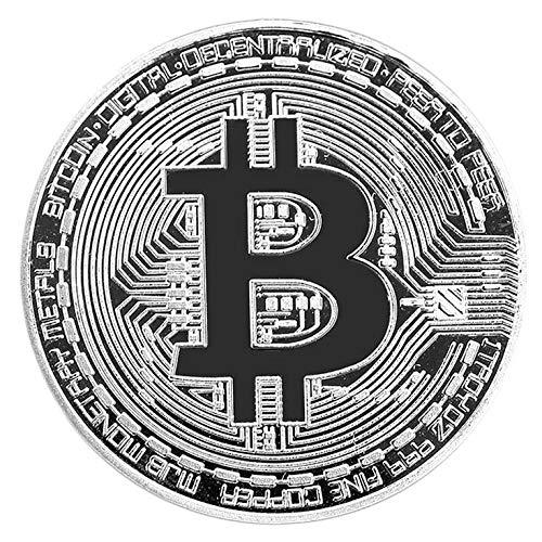 Known Goldene/Silberne Bitcoin-Münze Bronze physische Bitcoin-Münze Sammlerstück BTC Coin Art Collection physisches Weihnachtsdekorationsgeschenk