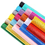 Sntieecr 20pezzi 20colori lucidi superfine glitter tessuto glitter fogli di feltro per...