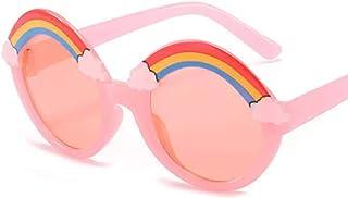 HHAA - HHAA Gafas De Sol Redondas De Arcoíris Bonitas A La Moda para Niños, Gafas De Sol Cómodas A La Moda para Niños, Sombras De Color Caramelo, Gafas para Niñas Y Niños