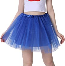 Women's Classic 4 Layered Tulle Tutu Skirt,Balck,Blue, Red Tutu for Women