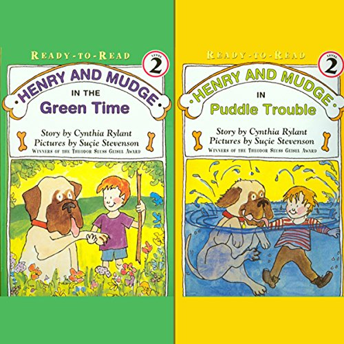 'Henry and Mudge in Puddle Trouble' and 'Henry and Mudge in the Green Time' audiobook cover art