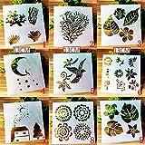 BLUGUL Plantillas de Dibujo, para Scrapbooking, Manualidades, DIY, Album de Fotos, Cuaderno, Diario,...