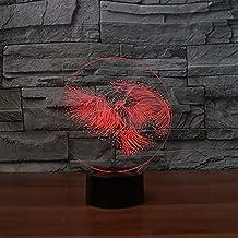 KLJLFJK Parrot 3D LED USB Lamp 7 Colors Changing Mood Bird Night Light Gift Decor Bedroom Bedside Table Lamp Luminaria Lighting