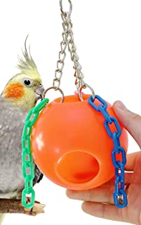 Bonka Bird Toys 1437 Small Jolly Ball Parrot Cockatiel cage Swing hut Center. Quality Product Hand Made in The USA.