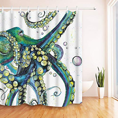 Colorful Octopus Shower Curtain