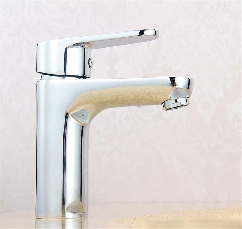 ANNTYE Waschtischarmatur Bad Mischbatterie Badarmatur Waschbecken Warmes und kaltes Wasser Messing 1 Bohrung der Einhebelsteuerung Badezimmer Waschtischmischer