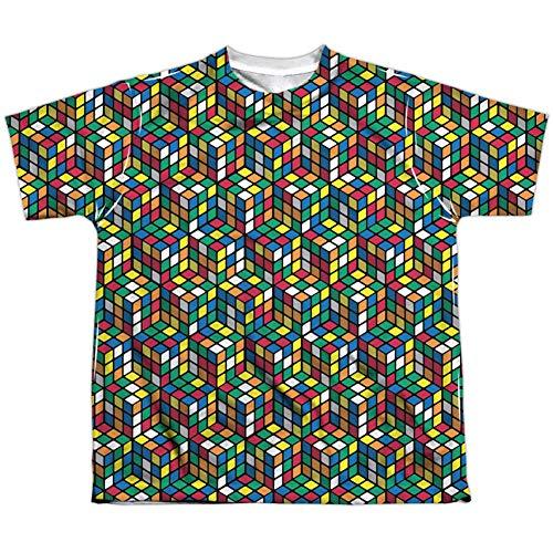 Rubik's Cube - Camiseta de manga corta - Camiseta gráfica - Manga corta - opaco - para niño blanco blanco