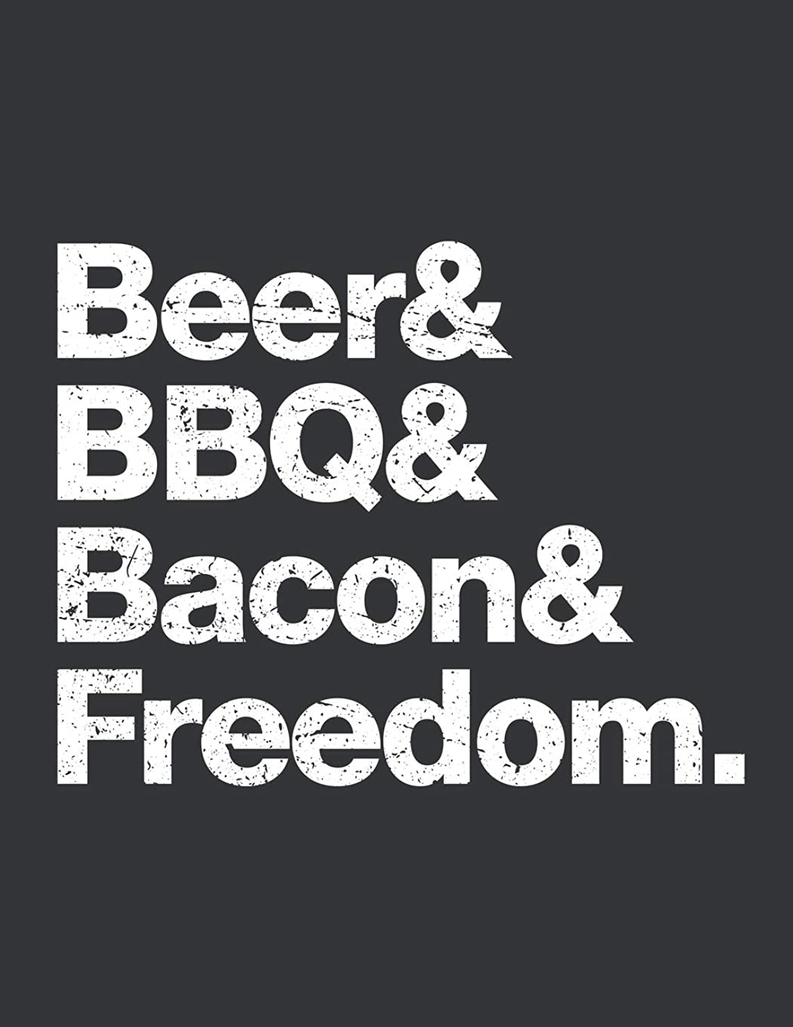 Notebook: Beer Bacon BBQ Freedom Funny Indipendence Day Journal & Doodle Diary; 120 Dot Grid Pages for Writing and Drawing - 8.5x11 in.