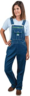 womens Washed Denim Bib Overalls