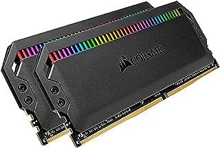 Corsair DOMINATOR PLATINUM RGB 32GB (2x16GB) DDR4 3200 (PC4-28800) C16 1.35V AMD Optimized Memory- Black
