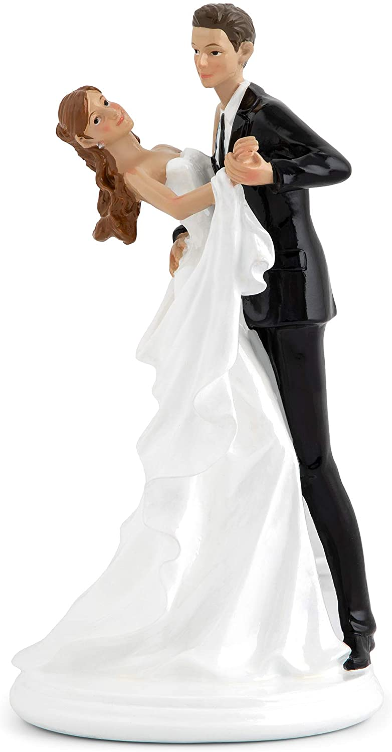 HONEYRIBBON Wedding Cake Easy-to-use Toppers - Gr Dancing Elegant Bride Large discharge sale and