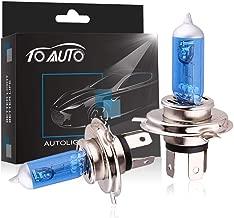 TOAUTO 2 X H4 100W/90W 12V Car Headlight Lamp P43t Halogen Light Super Bright Fog Xenon Bulb White
