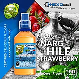 E LIQUID PARA VAPEAR - 30ml Narghile Strawberry (Tabaco de shisha con sabor a fresa