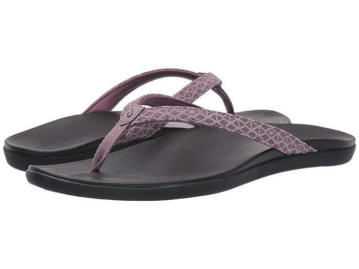 Ho'opio  Shoes (Mauve Kapa/Black) Women's Sandals