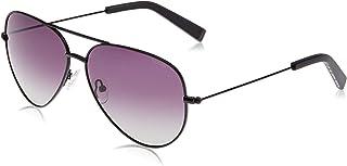 نظارات شمسية للرجال باطار افياتور من نوتيكا عليها شعار N معدني - اسود مطفي