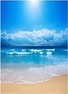 Beach Photo Backdrop Photo Studio Background Cloth 3D Seaside Photography Backdrop Wall Props 90x150cm
