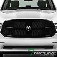 Topline Autopart Glossy Black Mesh Front Hood Bumper Grill Grille ABS For 13-18 Dodge Ram 1500/2019 Ram 1500 Classic