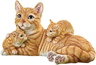 Collections Etc Realistic Mama Cat with Kittens Figurine - Garden, Yard and Home Decorative Accent