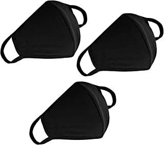 3 Pack Fashion Face Cover Unisex - Adjustable Reusable Cotton Warm Mouth Cover for Outdoor