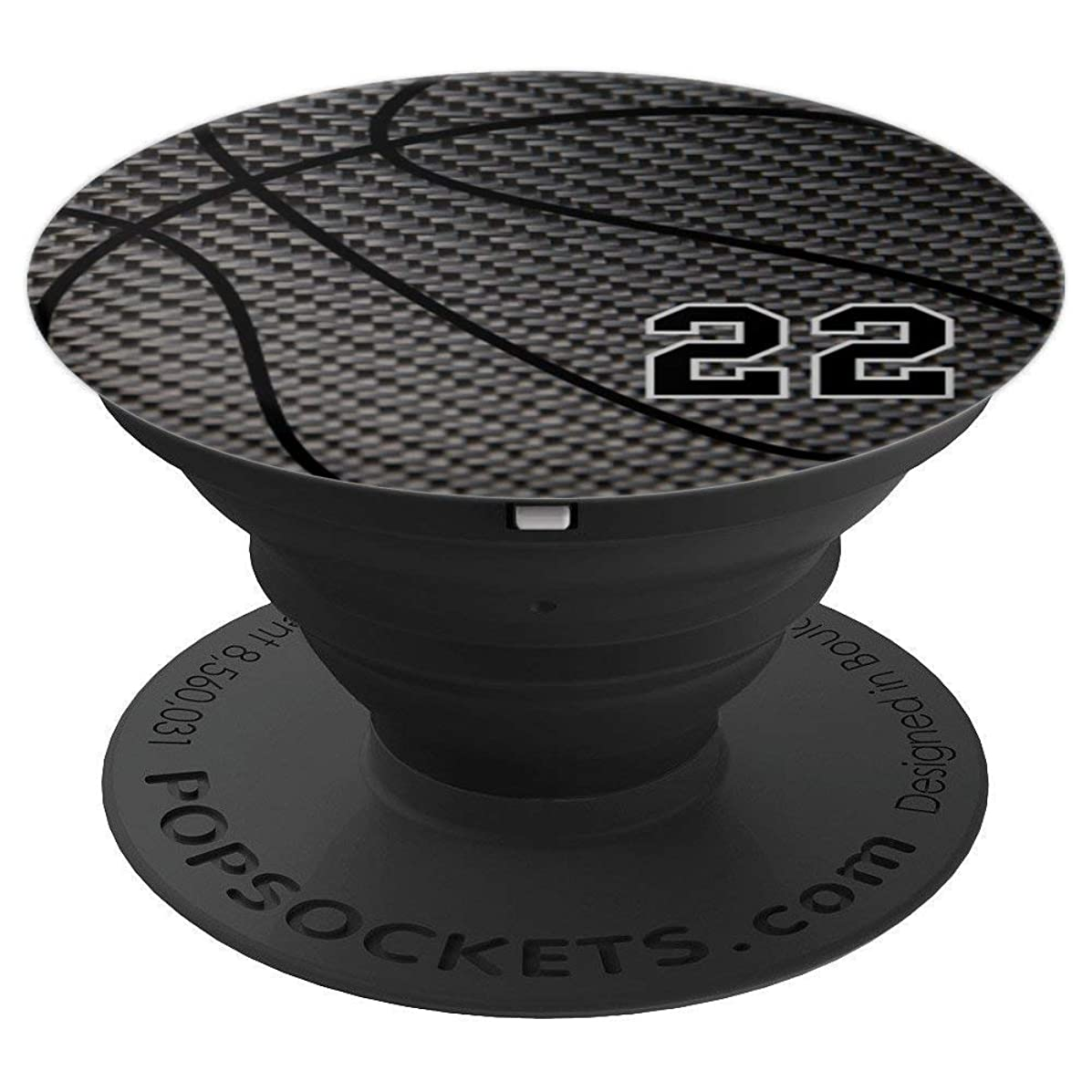 Basketball number 22 black phone stand for men - PopSockets Grip and Stand for Phones and Tablets
