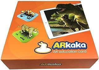 Youngshionインタラクティブな教育的なファンシー動物園のマジックゲーム4D AR子供のための動物のフラッシュカード早期紹介恐竜、陸と海の動物、鳥や昆虫、108個/セット