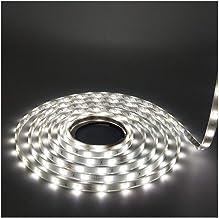 LEDMY Flexible Led Strip Lights, Strip Lights, DC 24V 12W SMD3528 150LEDs IP68 Waterproof Under Cabinet Lights Cool White ...