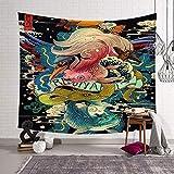 N / A Hogar Dormitorio Oficina Tapiz Tela de Fondo para Imprimir Tapiz Arte de la Pared Colgante de Pared decoración poliéster Manta de Tela de Pared A9 130x150cm