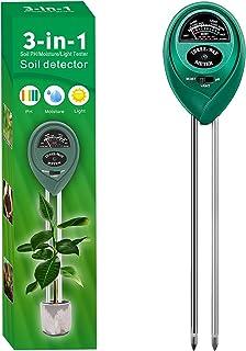 Alkey Soil Moisture Meter - 3 in 1 Soil Tester Kits with...