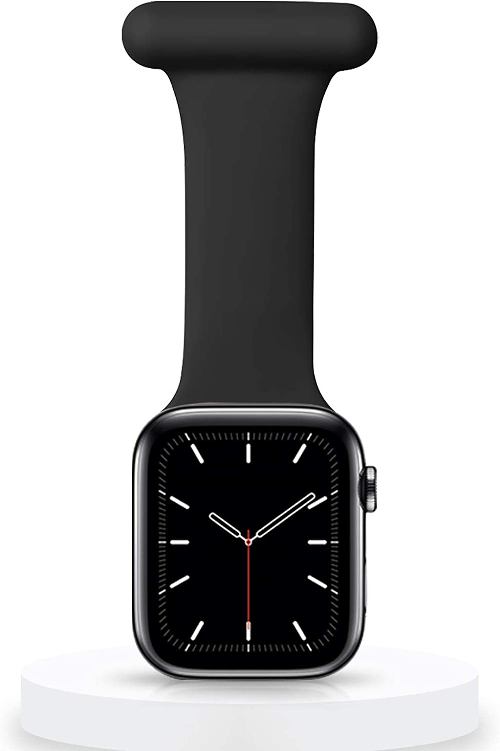 Veezoom Compatible with Apple Watch Band 38mm/40mm, 42/44mm, Silicone Pin Fob for Nurses Midwives Doctors Healthcare Paramedics, Infection Control Design for iWatch Series SE/6/5/4/3/2/1