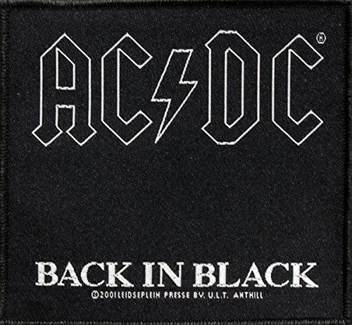 AC/DC Parche Back In Black Patch Tejida 10x 9,5cm