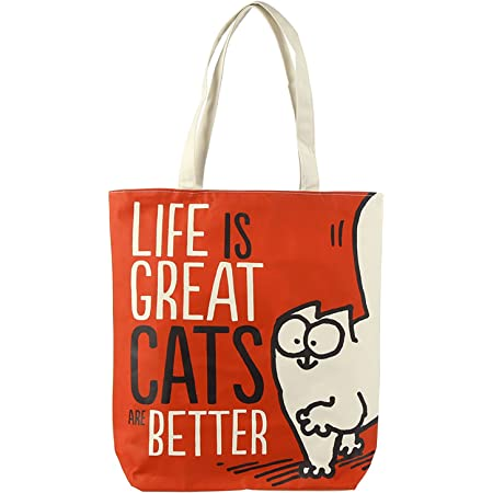 Puckator Simon's Cat Einkaufstasche LIFE IS GREAT CATS ARE BETTER SHOPPER