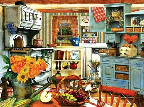 43LenaJon Grandma's Country Kitchen 1000 Teile Puzzle Tom Wood Sunsout DIY Zeitvertreib Hobby Hobbys